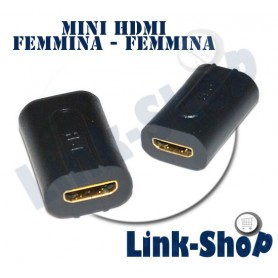 Adattatore Mini HDMI Femmina - Femmina Oro HD Prolunga Connettore Full per Cavo