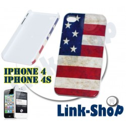 Bandiera Big2 Stati Uniti America USA Custodia Rigida per Apple Iphone 4S e 4