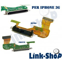 Carica Ribbon Dock Flex Connettore Nero Flat Charger di Ricarica per Iphone 3G