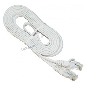 Cavo 5 metri Ethernet RJ45 Maschio Flat Piatto ADSL Internet Categoria 5E LAN
