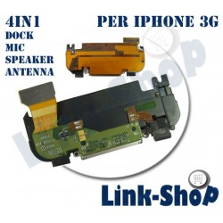 Dock Connettore Antenna Speaker Microfono Flex per Iphone 3G Ricambi Casse Audio