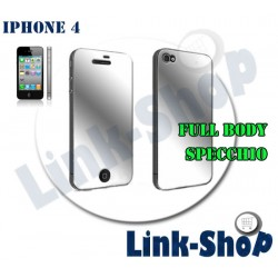 FULL BODY Mirror Pellicola Display Specchio Fronte Retro per Apple Iphone 4S e 4