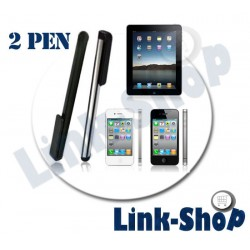 Kit 2 Penne Stylus Pennini per Apple Iphone 6 Plus 5S 5 4S 4 3GS 3G Ipod Touch 4G Ipad 1 2 3 Air Mini