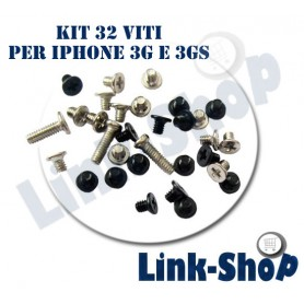 Kit 32 Viti di Ricambio Riparare Parti per Apple Iphone 3G 3GS Scocca Cover Vite