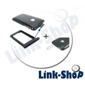 Kit per Apple Iphone 3GS 3G Porta Togli SIM Nero Vano CARD Holder + Spillo Pins