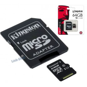 Scheda Memoria Micro SD SDHC SDXC Kingston 64gb CL10 per Samsung Galaxy S5 Neo Note 3 4 S4 Alpha