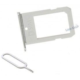 Slot SIM Holder Reggi Porta Supporto Spillo per Samsung Galaxy S6 Edge Silver