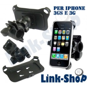 Supporto Bici Moto Holder Porta Reggi Snodabile da Bicicletta per Iphone 3GS 3G