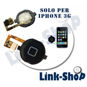 Tasto Home Centrale Pulsante Centro + Flat Flex Button per Apple Iphone 3G Nero