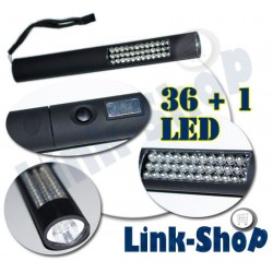 Torcia Luce 36 + 1 Led Lampada Magnetica Auto Camper Lavoro Hobby + 4 Batterie