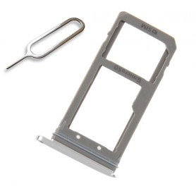 Slot SIM Holder Reggi Porta Supporto Spillo per Samsung Galaxy S7 Edge Silver