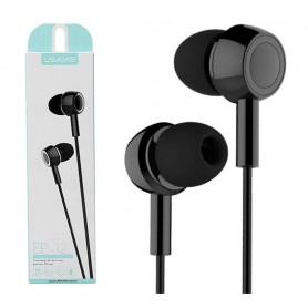 USAMS EP-12 Cuffie nere audio auricolari in ear universali microfono per cellulare pc tablet