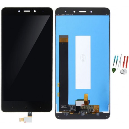 Display lcd touch screen vetro parte di ricambio originale per Xiaomi Redmi Note 4 nero