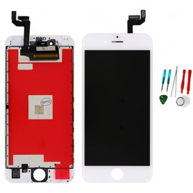 Display lcd touch screen vetro di ricambio compatibile per Apple Iphone 6S Bianco TianMA AAA Quality
