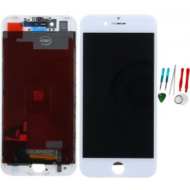 Display lcd touch screen vetro di ricambio compatibile per Apple Iphone 7 Bianco TianMA AAA Quality