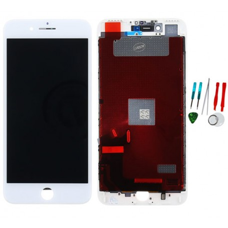 Display lcd touch screen vetro di ricambio compatibile per Apple Iphone 7 Plus Bianco TianMA AAA Quality