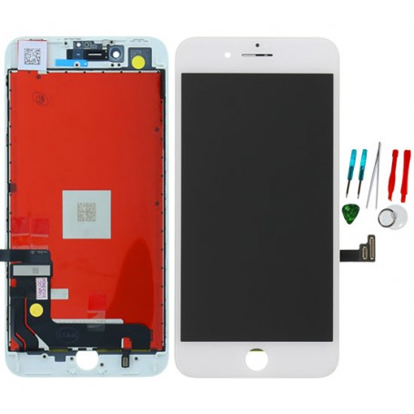 Display lcd touch screen vetro di ricambio compatibile per Apple Iphone 8 Plus Bianco TianMA AAA Quality