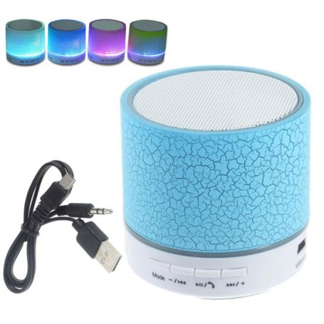 Mini cassa led speaker portatile Radio FM bluetooth vivavoce per smartphone lettore TF USB Micro SD