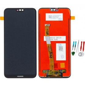 Display lcd touch screen vetro parte di ricambio per Huawei P20 Lite Nero