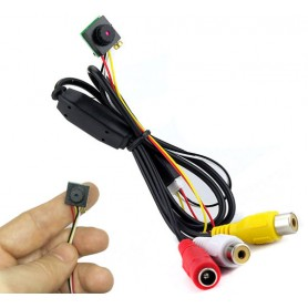 Mini micro camera 12V telecamera colori audio video microfono 1200TVL per spia
