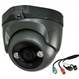 Telecamera 4in1 dome nera 5 mpx HDTVI HDCVI AHD CVBS 3.6mm 1080p HD Led IR 30m IP66