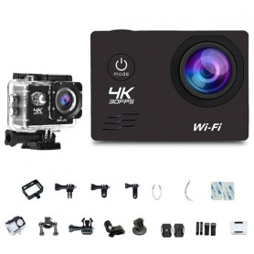 Sport Action Camera Wifi 4K HD DV videocamera impermeabile display 2 + accessori per casco bici moto